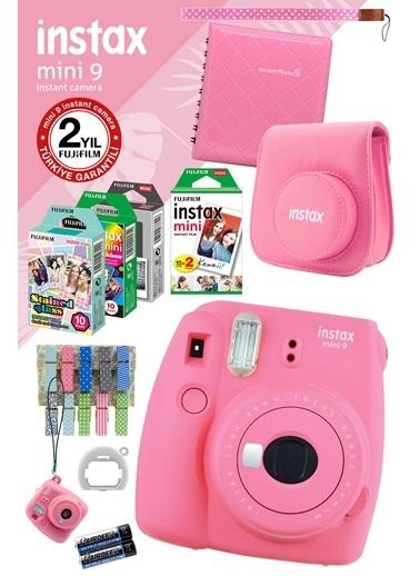 Fujifilm instax mini 9 Pembe Fotograf Makinesi ve Mega Hediye Seti Renkli